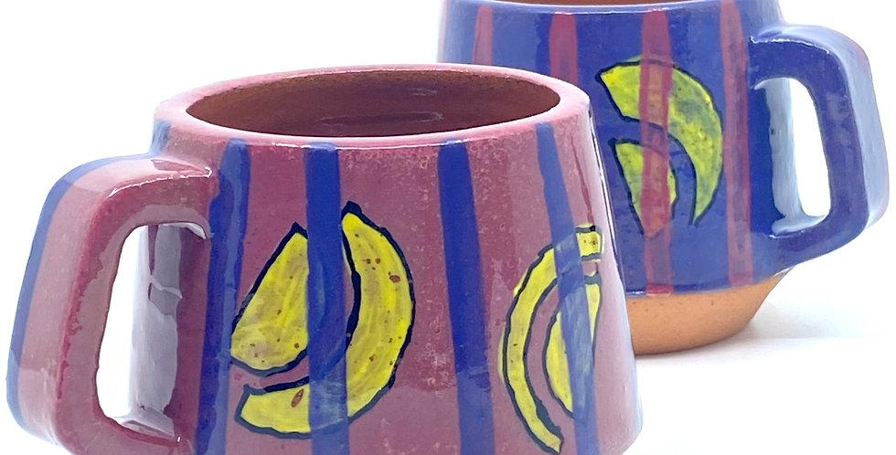 Purple Yellow Mugs (Couple)