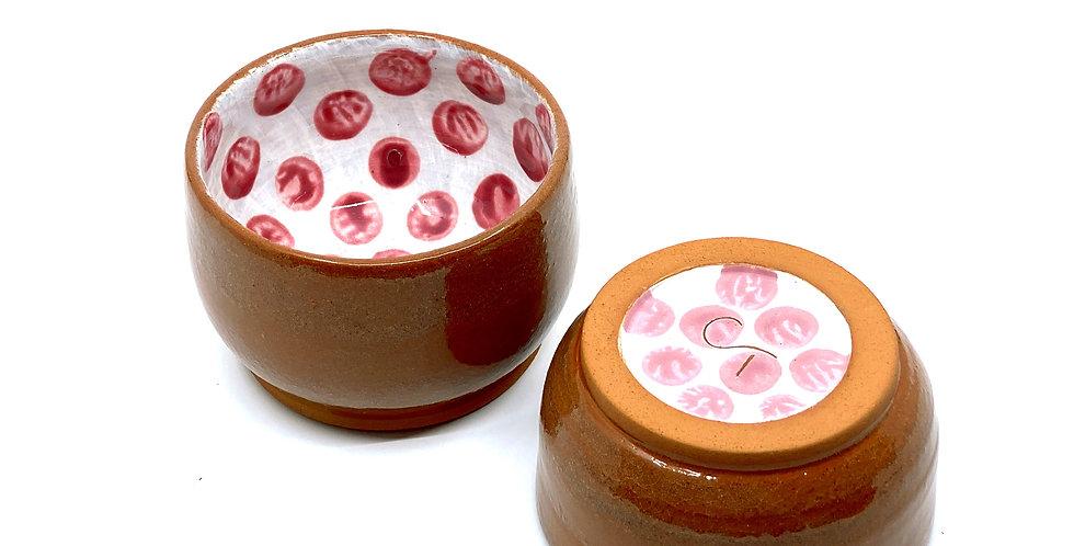 Pink Dotty Bowls (Couple)