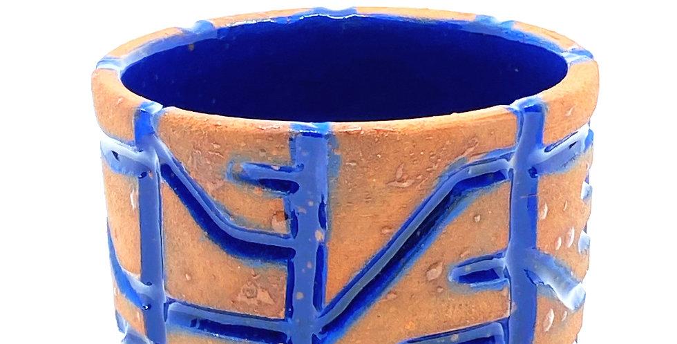 Maze Blue Cup