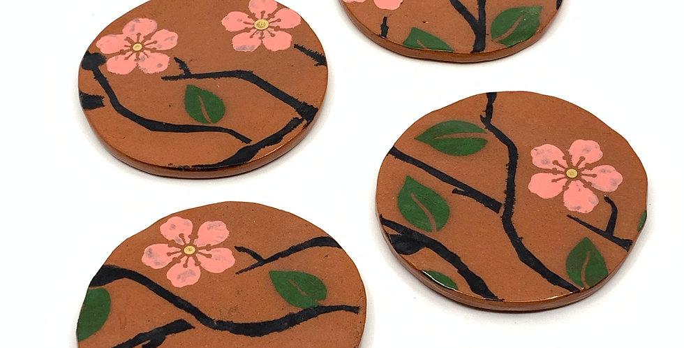 Blossom Ramadan Coasters (Set of 4)
