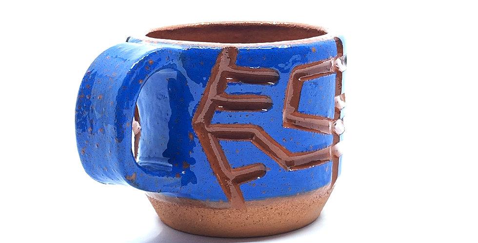 Blue Maze Mini Mug