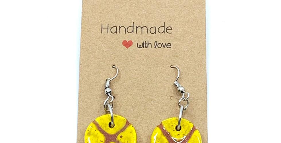 X Yellow Earrings