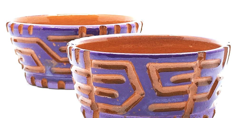 Purple Maze Bowls (Couple)