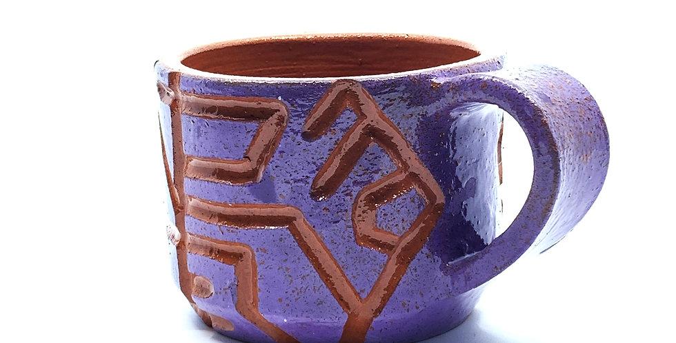 Purple Maze Mini Mug