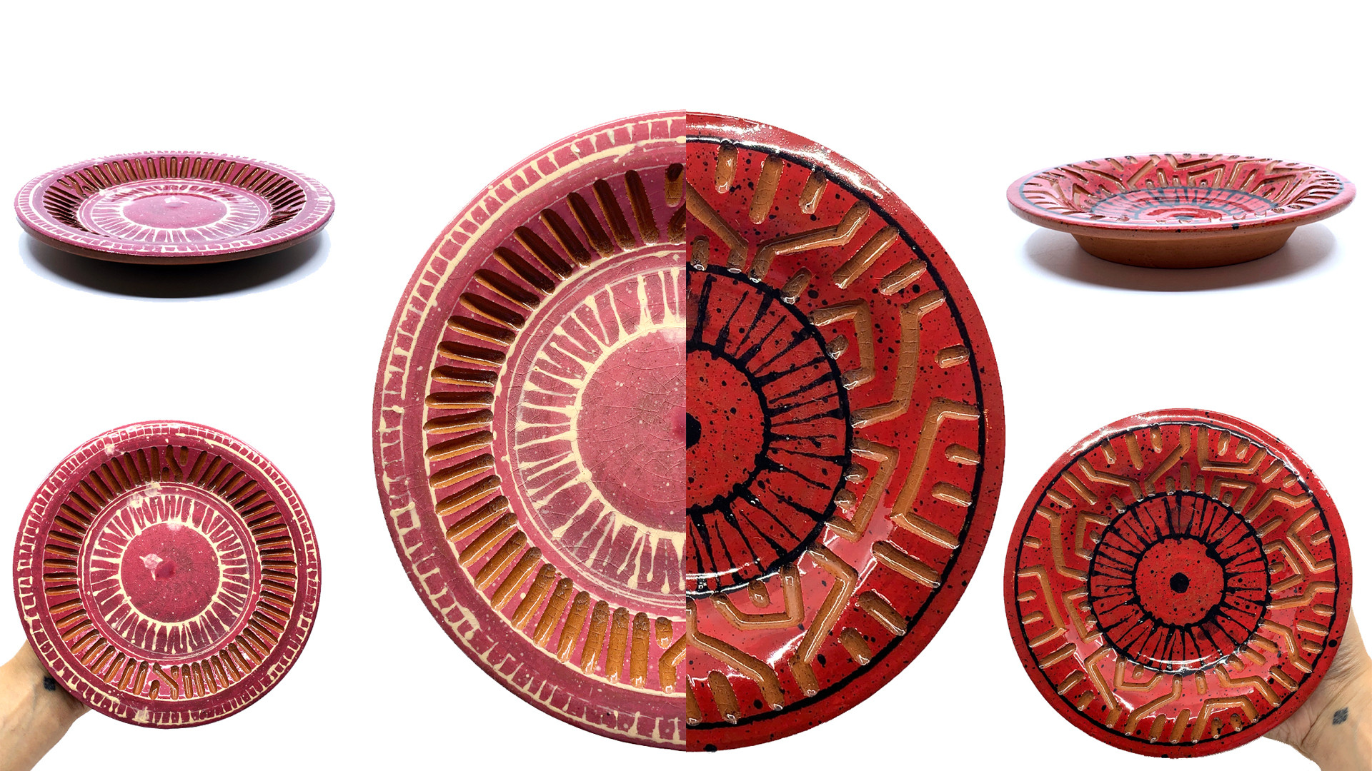 Hand Building + Painting (Plates)