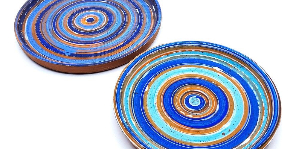 Blue Tanoura Plates (Couple)