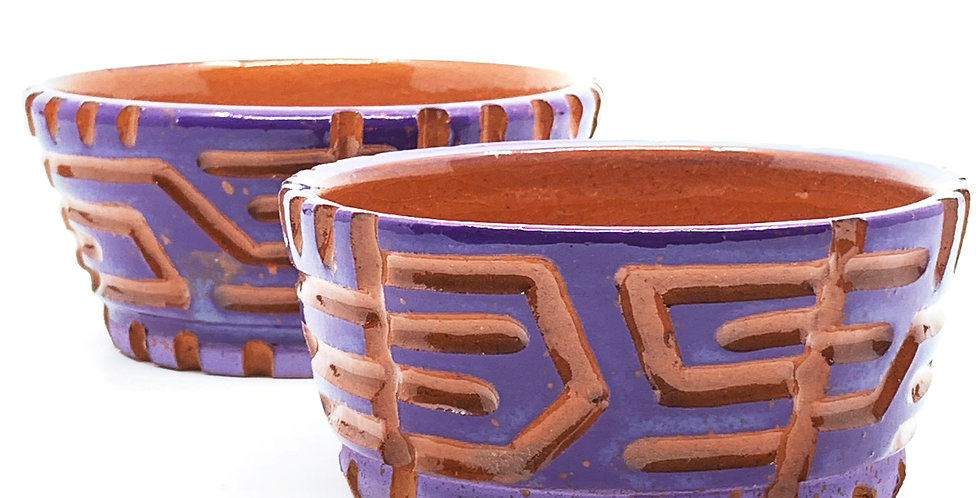 Purple Maze Bowls (Couple)