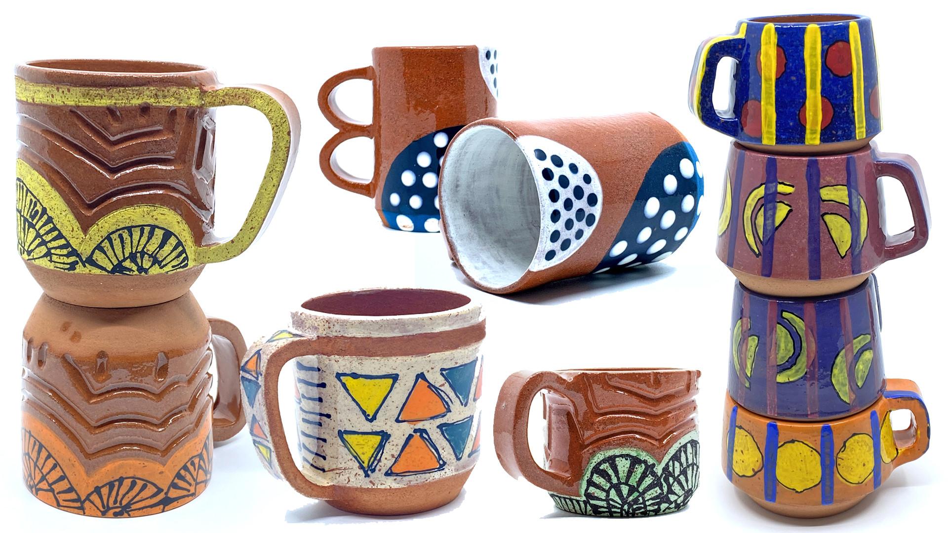 Hand Building + Painting (Mugs)