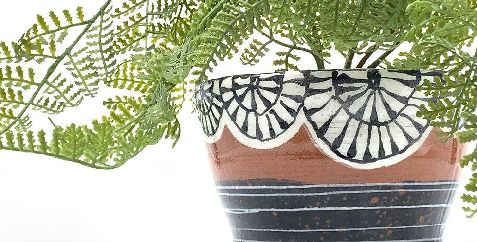 Black Burst Planter