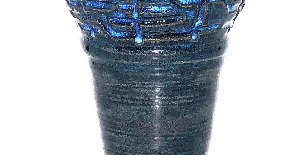Maze Midnight Blue Vase