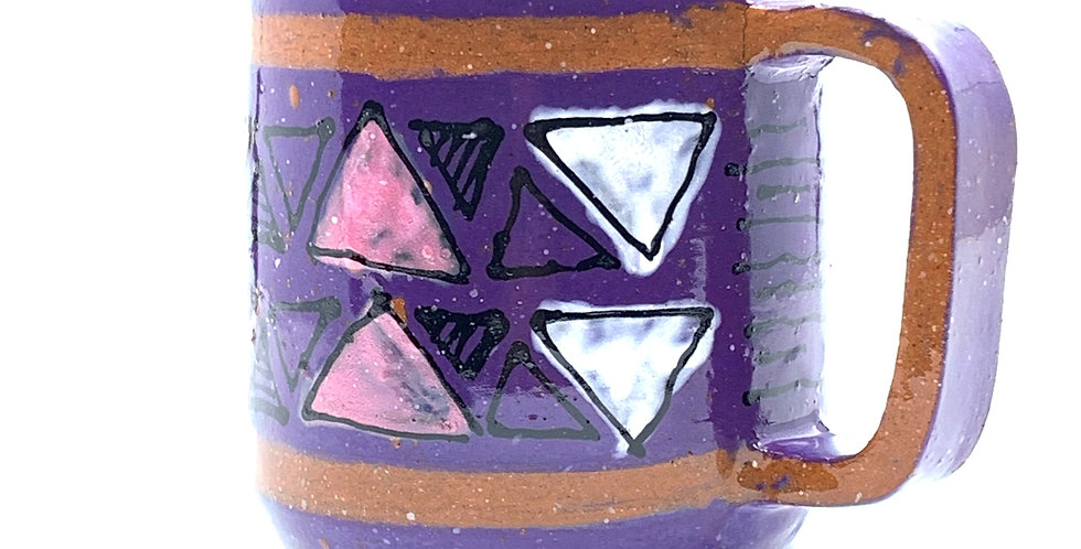 Purple Geometric Mug