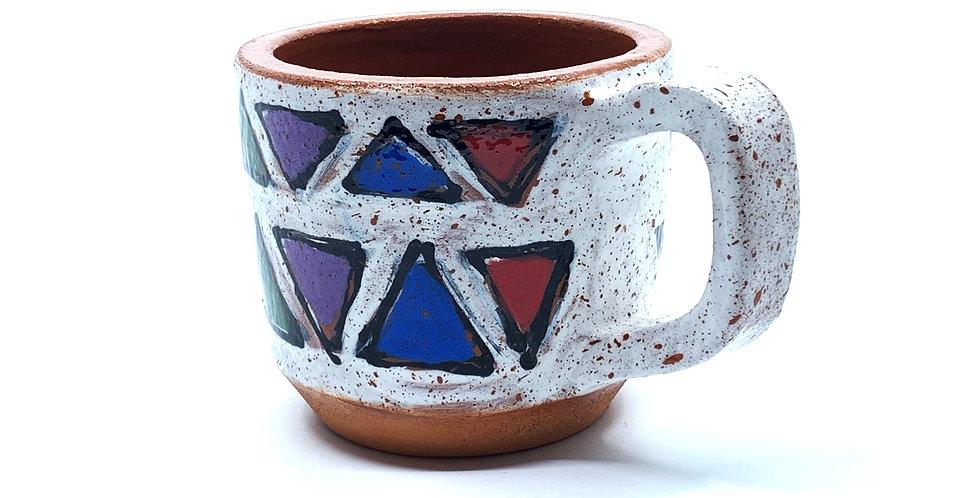 White Geometric Mini Mug