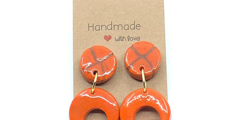 XO Orange Earrings