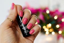 paznokcie hybrydowe_pink Rose 064_semilac pink rose_brudny roz lakier do paznokci_manicure do pracy_