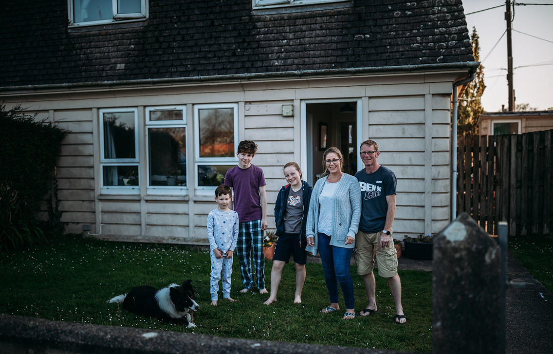 Zeta and Simon with Thomas, Lauren, Eddie and Flora the dog