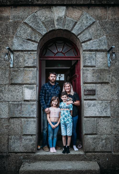 Kent, Vicky, Zak and Millie