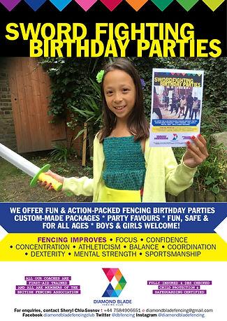 Birthday Parties | Diamond Blade Fencing Club | London