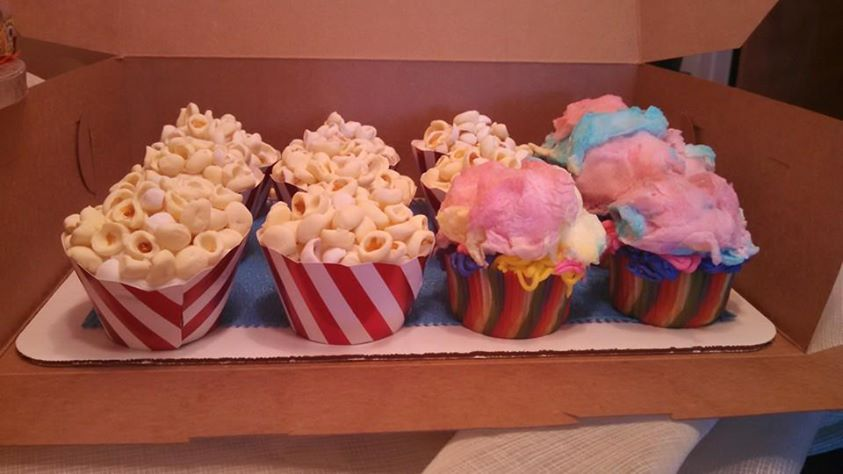 Movie theme, popcorn & cotton candy