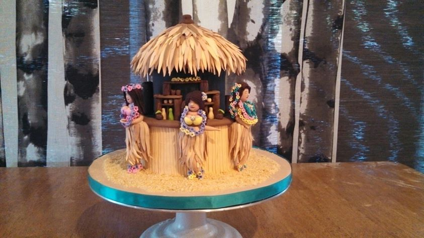Tiki Hut, Hula Girls, Tropical