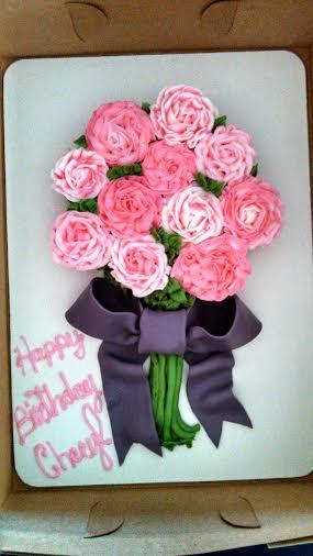 Flat Rose Bouquet