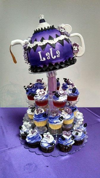 Tea Party Cake & Cupcakes