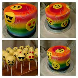 emoji cake & cakepops