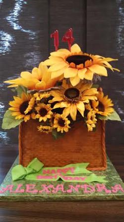 Sunflower Basket