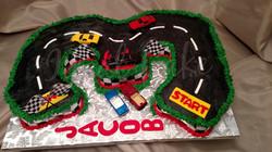 Racetrack cupcake cake