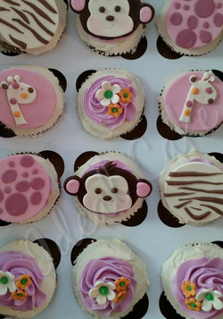 Babyshower, Safari Cupcakes