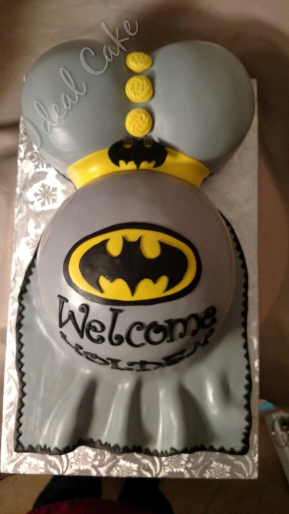 Batman Belly Cake