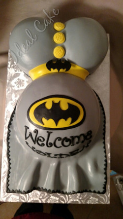 Batman Belly Cake
