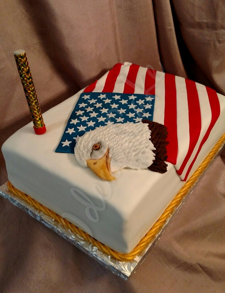 4th of July, Celebrate, Eagle, Flag