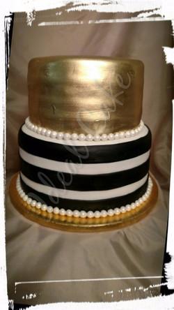 Pretty in Gold & Stripes
