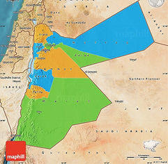 Map of Jordan Governorates Amman Karak Tafileh Salt Maan Aqaba Mafraq Irbid Dead Sea