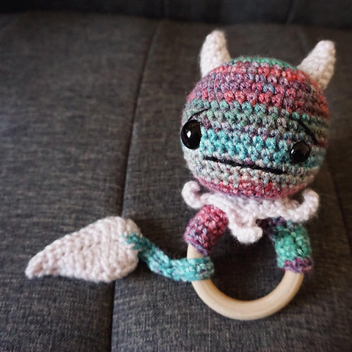 Ham and Eggs Monster Baby Rattle