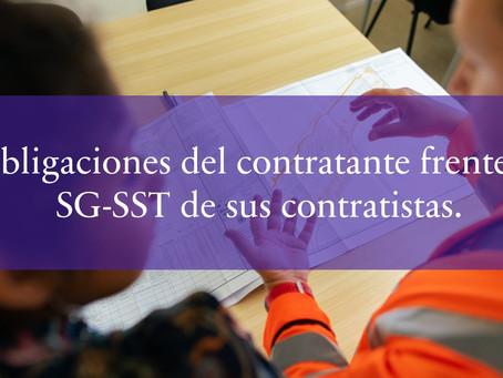 Obligaciones del contratante frente al SG-SST de sus contratistas.