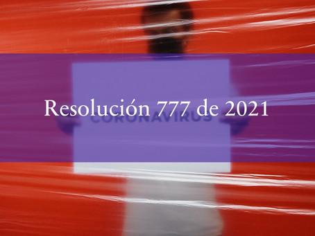 Resolución 777 de 2021