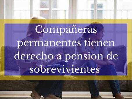 SON BENEFICIARIAS DE LA PENSIÓN DE SOBREVIVIENTES, LA COMPAÑERA PERMANENTE Y LA CÓNYUGE SIMULTÁNEAME