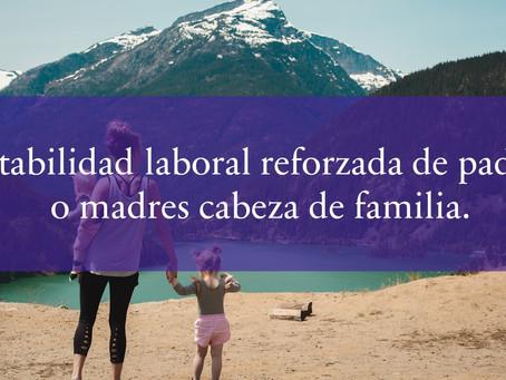 Estabilidad laboral reforzada de padres o madres cabeza de familia.