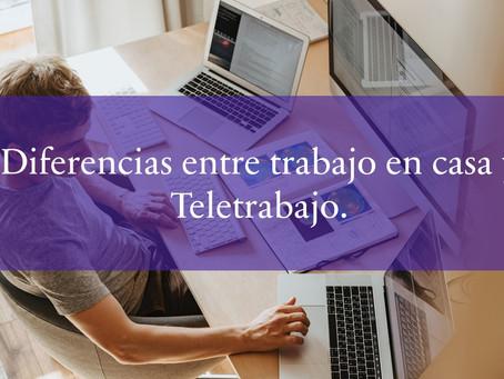 Diferencias entre trabajo en casa y Teletrabajo.
