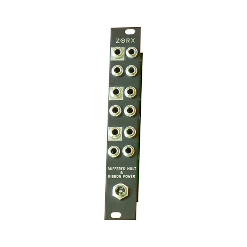 THE ZORX POWER + BUFFERED MULT EURORACK MODULE