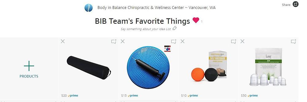 BIB Team's Favorite Things