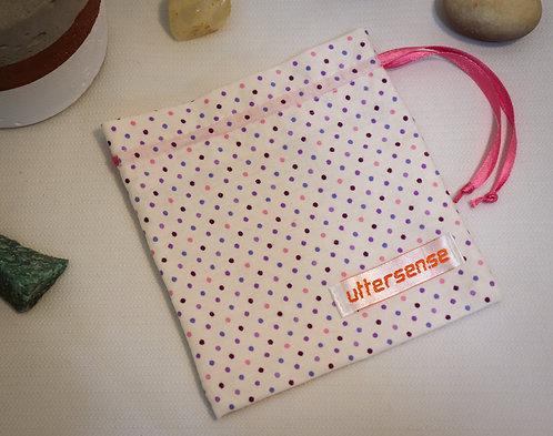 bolinhas laço rosa • saquinho