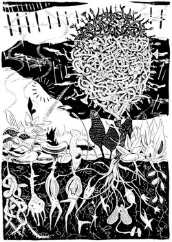 twisting bush [ink on paper]