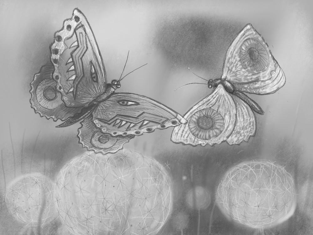 Barracks Bugs, iPad drawing