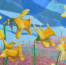 daffs [oil on canvas]