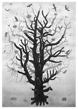 crow tree [ink on paper]