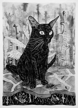 cat guilt 3 [ink on paper]