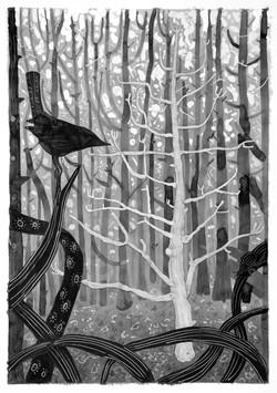 'light tree' ink on paper