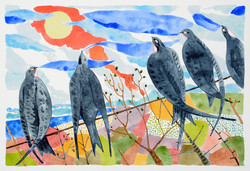 migrate [watercolour on paper]